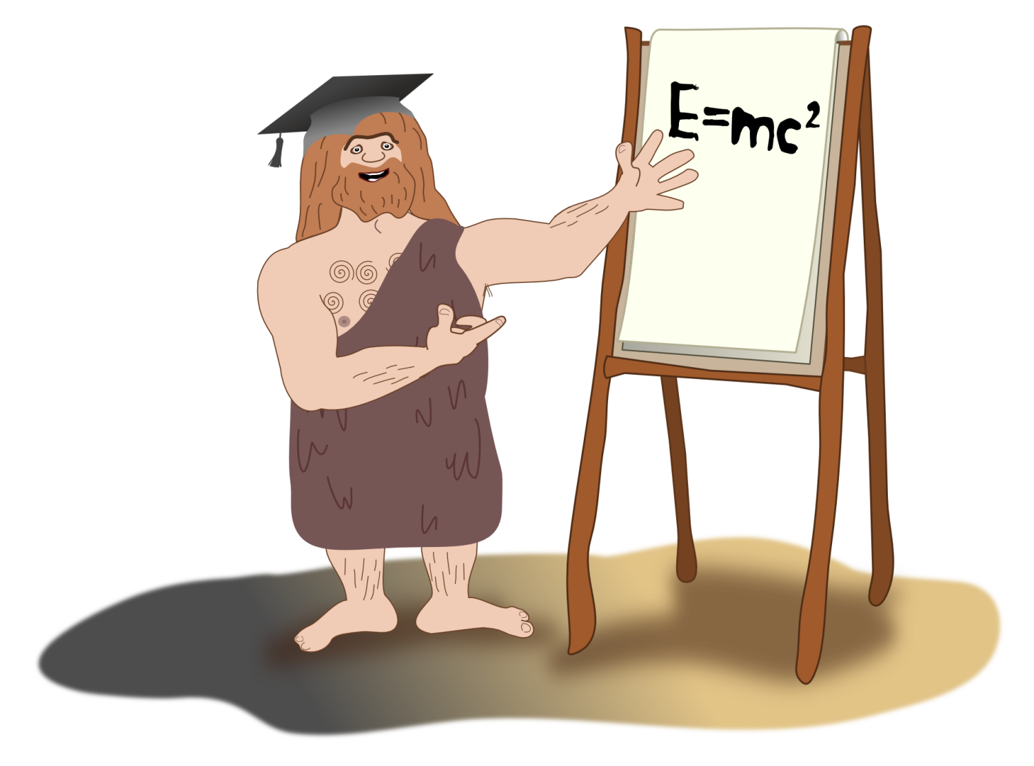 Illustration of caveman in business presentation from Online Sales Training Modules, Limelight Learning UK