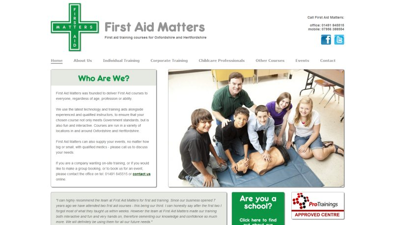 CSM Family Mediation Website Screenshot