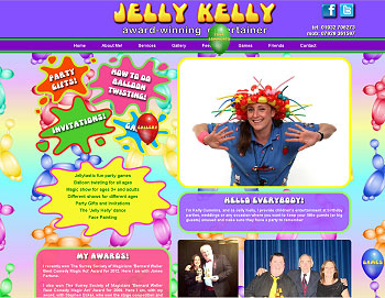 Jelly Kelly Website Screenshot