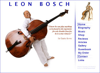 Leon Bosch, virtuoso double bass player