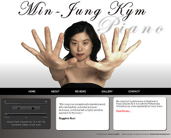 Min Jung Kym Website Screenshot